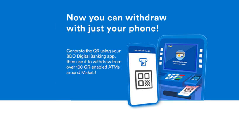 BDO Unibank Enables QR Code Withdrawals From Select ATMs